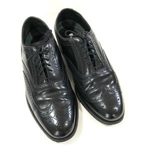Florsheim Imperial Wing Tip Black Leather Oxfords